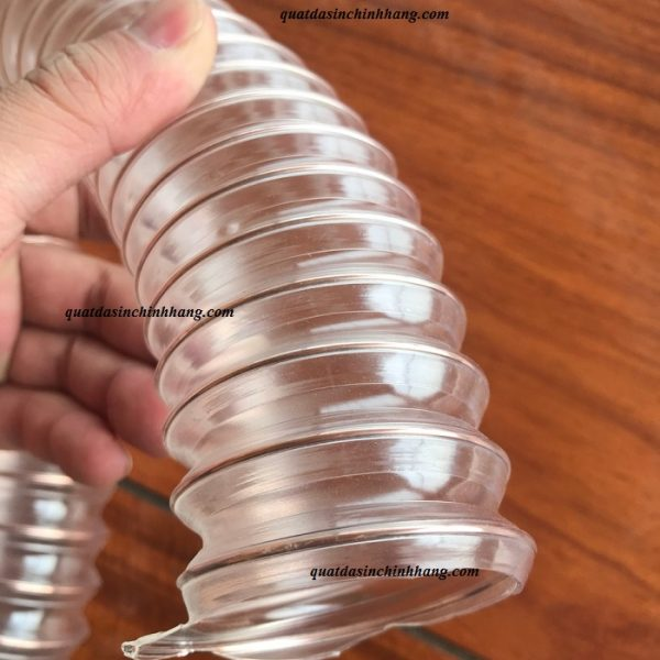 ống hút bụi pu lõi thép mạ đồng D100-1