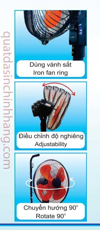 Đai vành quạt và thiết kế linh hoạt của quạt xe đầy