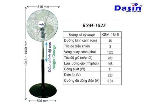 Quạt cây đứng công nghiệp KSM-1845