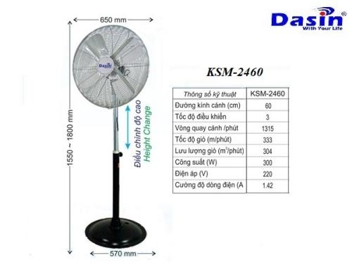 Quạt công nghiệp chân đứng KSM-2460