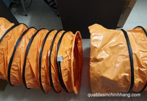 ống gió mềm vải bạt simili