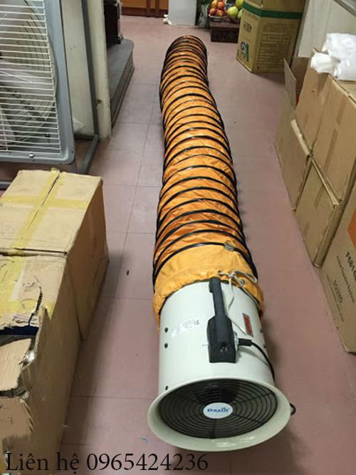 quạt hút công nghiệp nối ống gió