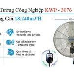 giá quạt treo tường công nghiệp kwp-3076